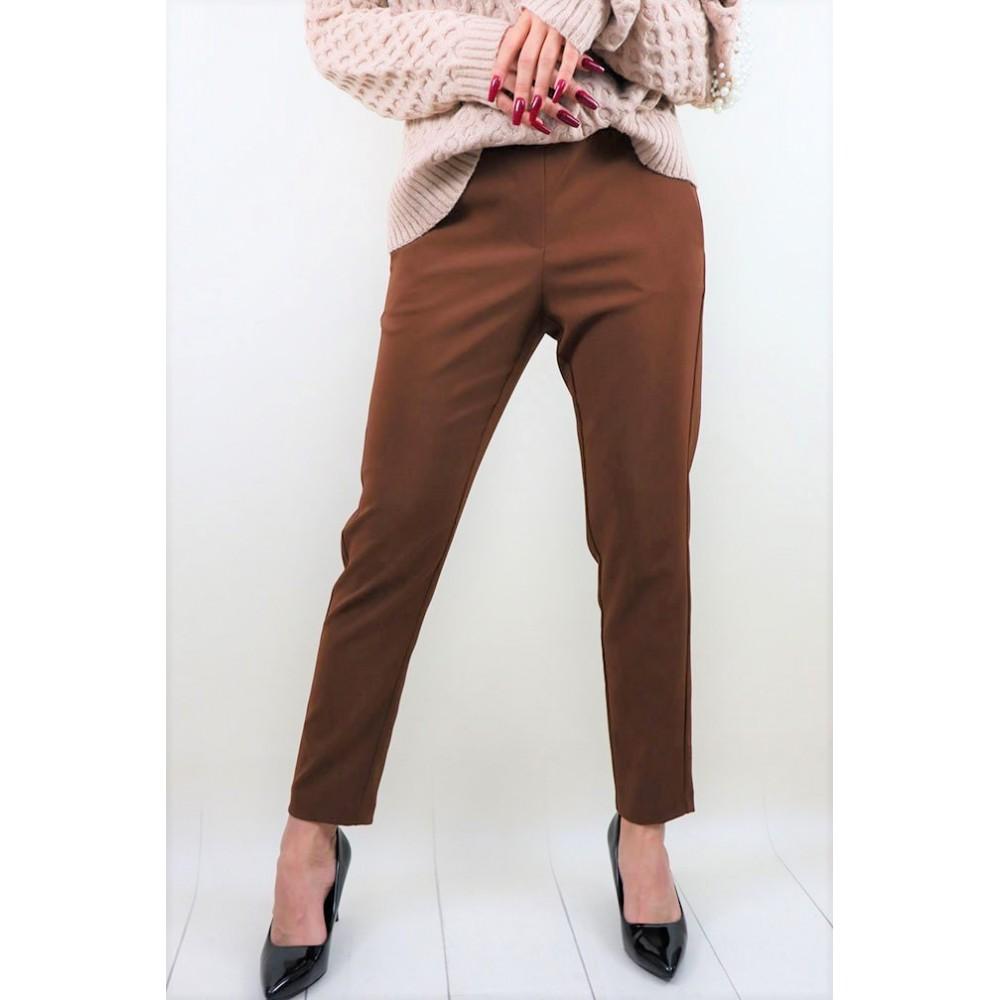 Brązowe materiałowe spodnie