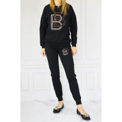 BABYLON komplet dresowy damski w kolorze czarnym