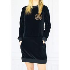BABYLON Welurowa sukienka tunika damska