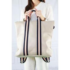 Włoska torebka plecak wykonana ze skóry naturalnej