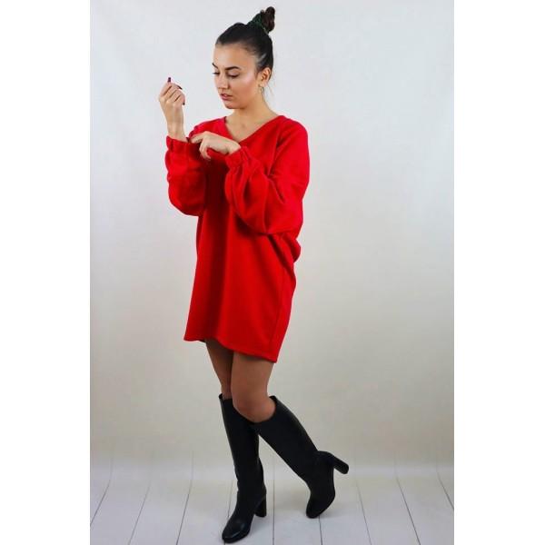 Bluza basic czerwona