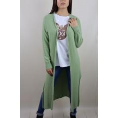 Zielony kardigan długi