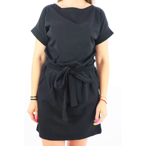 Sukienka damska MEGI w czarnej kolorystyce