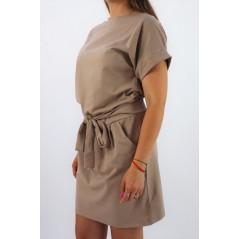 Sukienka damska MEGI w odcieniu beżowym