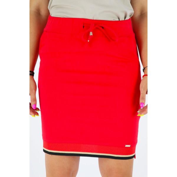 Spódnica damska MEGI w tonacji czerwieni