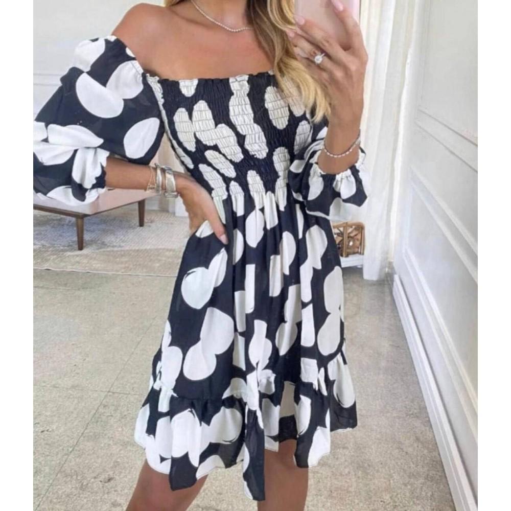 Hiszpanka sukienka w grochy damska