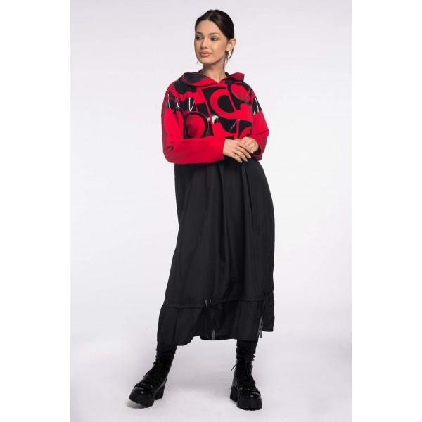 Sukienka Meggi czarno-czerwona
