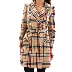 Sukienka żakietowa w kratę Burberry