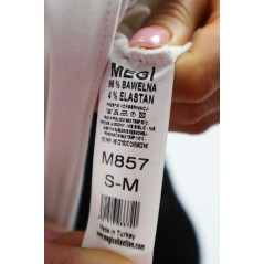 Czarno-biała bluza Megi damska z kapturem i srebrnym wykończeniem dołu