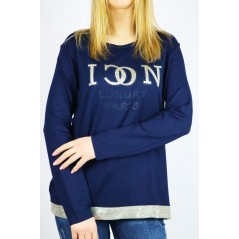 Granatowy longsleeve damski ICON luxury paris