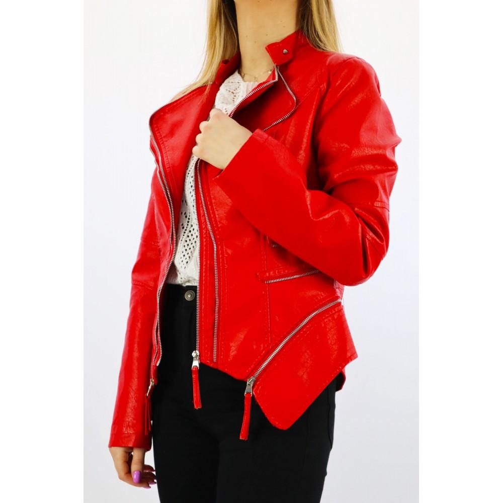 Czerwona kurtka damska z...