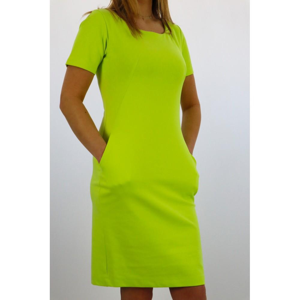 Limonkowa sukienka damska...