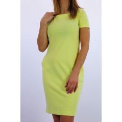Sukienka damska MEGI w cytrynowym kolorze