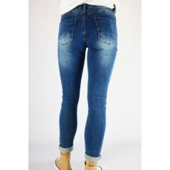 Spodnie damskie jeansowe niebieskie w rozmiarze do 48