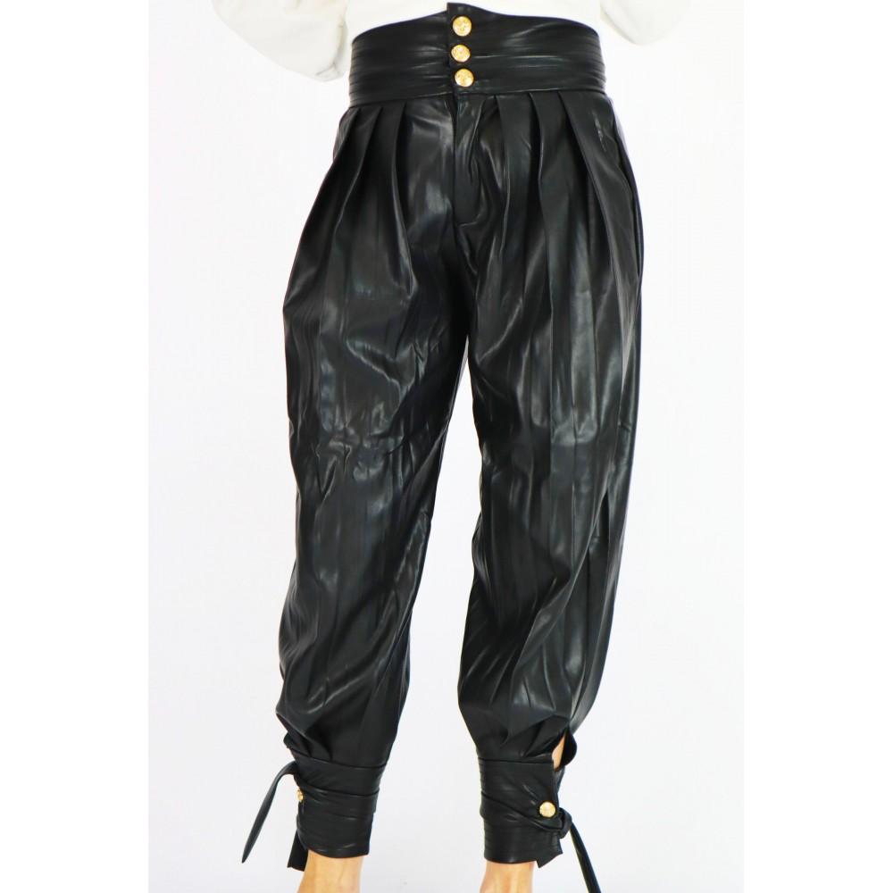 Spodnie skórzane damskie...