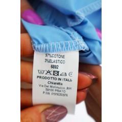 Sukienka oversize damska w kolorze błękitnym