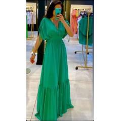 Maxi zielona sukienka wieczorowa damska