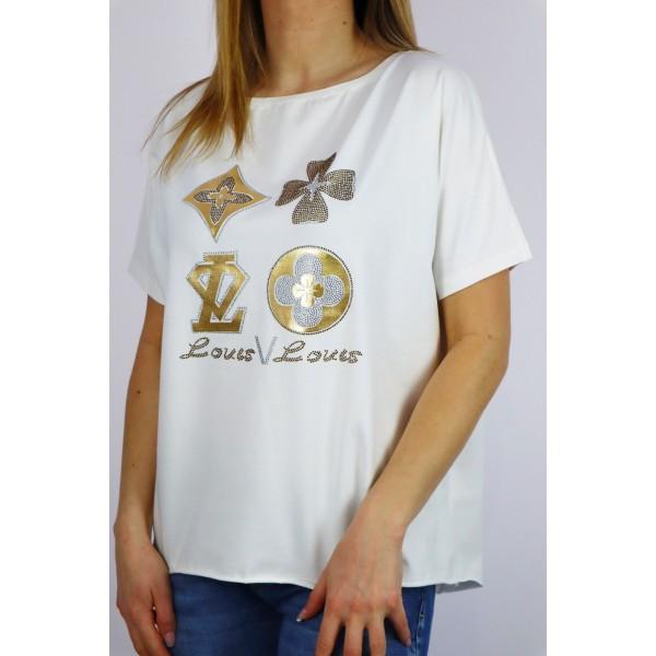 Biały t-shirt damski oversize Louis Louis