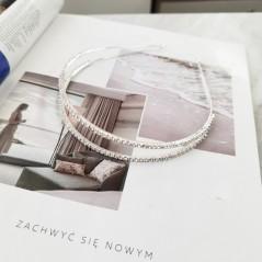 Opaska do włosów srebrna z kryształki O203