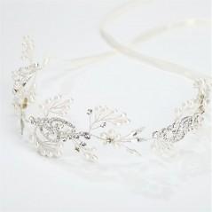 Opaska ślubna z kryształkami O147