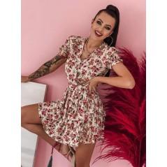 Sukienka Cocomore mini damska kwiatowa rozkloszowana