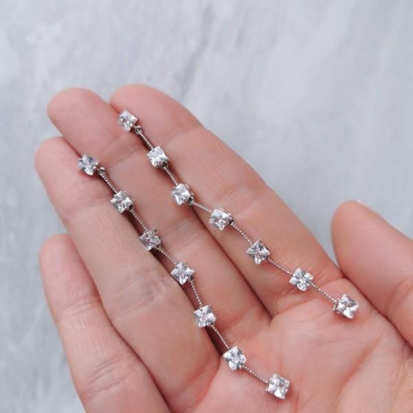 Kolczyki wiszące z kryształkami KST1601