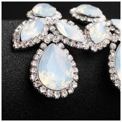 Kolczyki wiszące z kryształkami KSL73