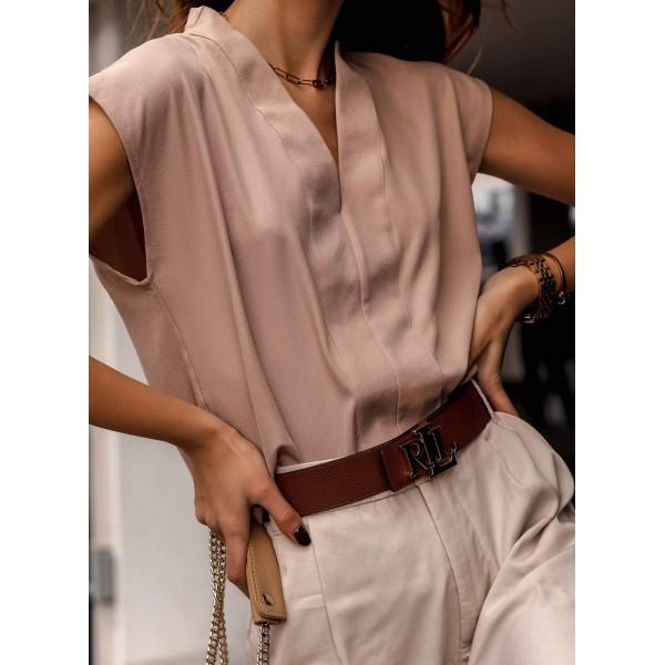 Elegancka bluzka damska cappucino