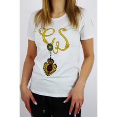T-shirt damski Gil Santucci biały z bajeczną grafiką