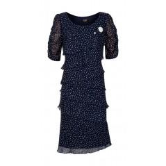 Sukienka damska granatowa w serduszka Estera