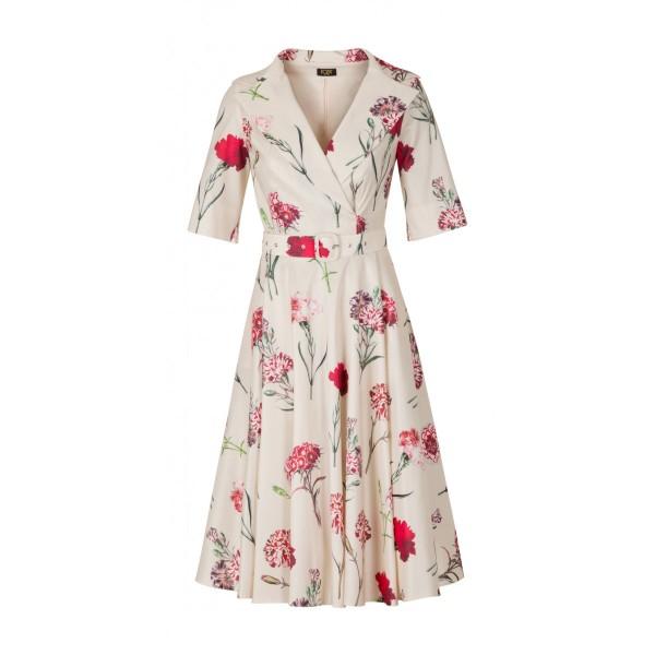 Sukienka damska w goździki Charlotte