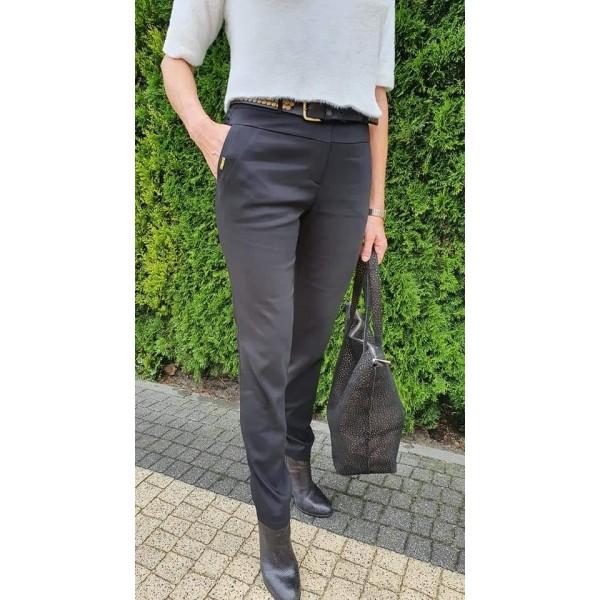 Czarne materiałowe spodnie damskie, od 340 do 50