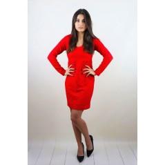 Czerwona sukienka koronkowa